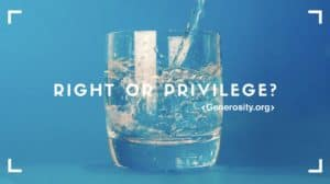 Clean Water should be a RIGHT, not a PRIVILEGE.